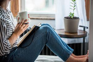 Women Journaling Coffee